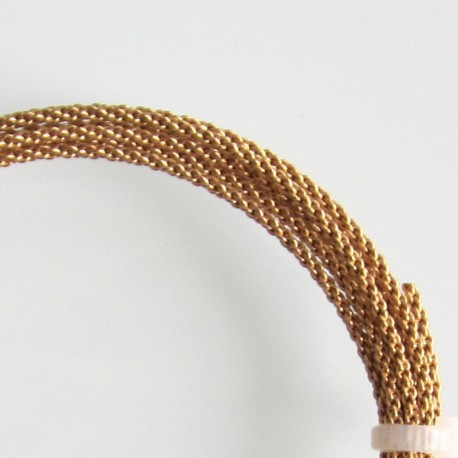 14 Gauge Braided Brass Finished Copper Wire - 1.5 Metres