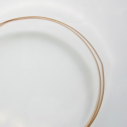 Plain Bezel 3.18mm x 0.25mm 14K Gold Filled Wire - 25cm Side View
