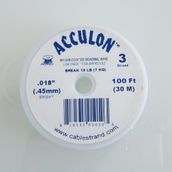 Acculon 0.45mm 3 Strand Beading Wire - Clear 30m