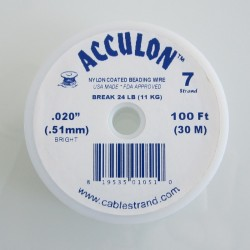 Acculon 0.51mm 7 Strand Beading Wire - Clear 30m Wire