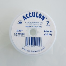 Acculon 0.51mm 7 Strand Beading Wire - Antique Gold 30m