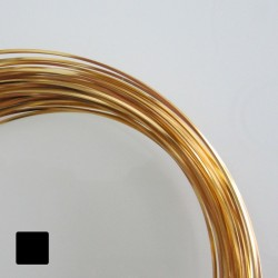 16ga (1.2mm) Square Anodised Aluminium Wire Gold - 13m