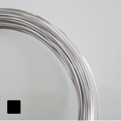 16ga (1.2mm) Square Anodised Aluminium Wire Silver - 13m
