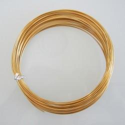16 Gauge Gold Aluminium Round Wire - 13m