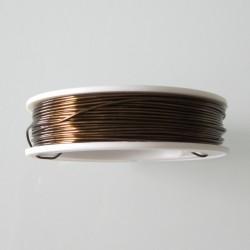 24 Gauge Jeweller's Antique Bronze Dead Soft Round Wire - 65 Metres