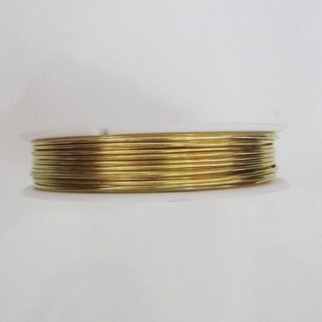 22 Gauge Round Gold Coloured Brass Wire - 40 Metres