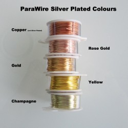 ParaWire 28ga Round Rose Gold Silver Plated Copper Wire - 13 Metres Compare Colours