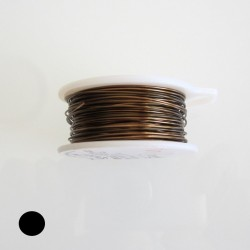 ParaWire 30 Gauge Round Vintage Bronze Copper Wire with Anti Tarnish Coating -  45 Metres