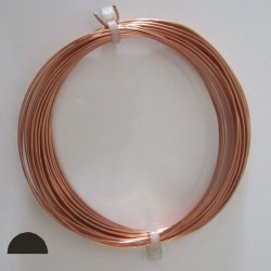 20 gauge Half Round Half Hard Copper wire - 10 Metres
