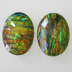 Resin Opalescent Black Oval Cabochon - 40x30mm Sold Individually