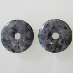 Blue Labradorite Donut - 30mm Sold Individually