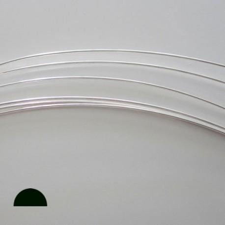 12 Gauge Half Round Dead Soft 10% Sterling Silver-Filled Wire - 50cms