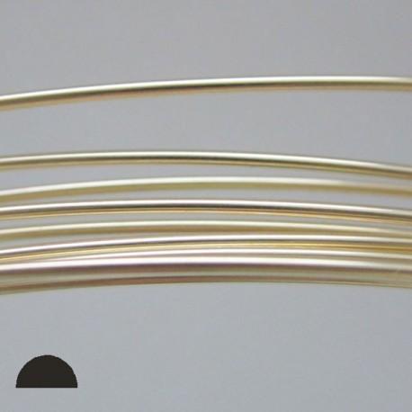 20 gauge Dead Soft, Half Round 14k Gold Filled wire - 3 Metres