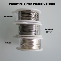 ParaWire 26 Gauge Round Titanium Finished and Silver Plated Copper  Wire - 13 Metres Compare