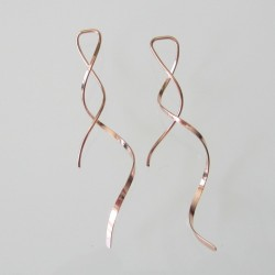 5cm Smooth Flat Ribbon Rose Gold Filled Earring