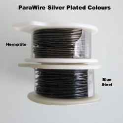 ParaWire 28 Gauge Round Hematite Finished and Silver Plated Copper  Wire - 13 Metres Compare