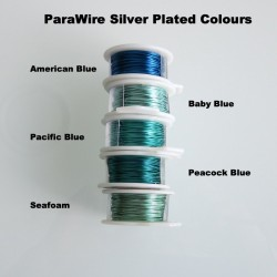 ParaWire 28 Gauge Round Seafoam Silver Plated Copper  Wire - 13 Metres Compare