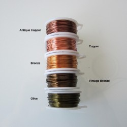 ParaWire 28ga Round Bronze Copper Wire with Anti Tarnish Coating -  36 Metres Compare