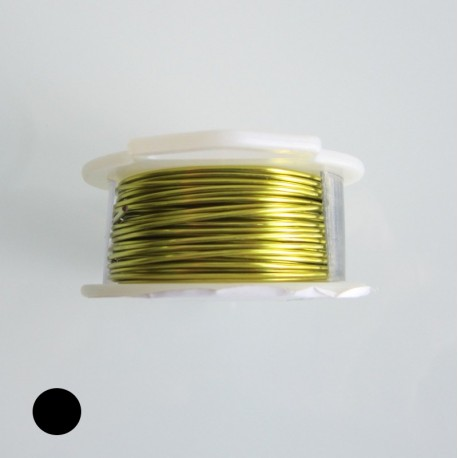 ParaWire 30ga Round Peridot Silver Plated Copper Wire - 27 Metres