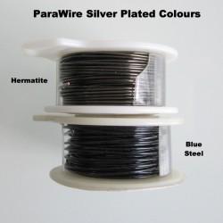 ParaWire 24ga Round Hematite Silver Plated Copper Wire - 9 Metres Compare Colours
