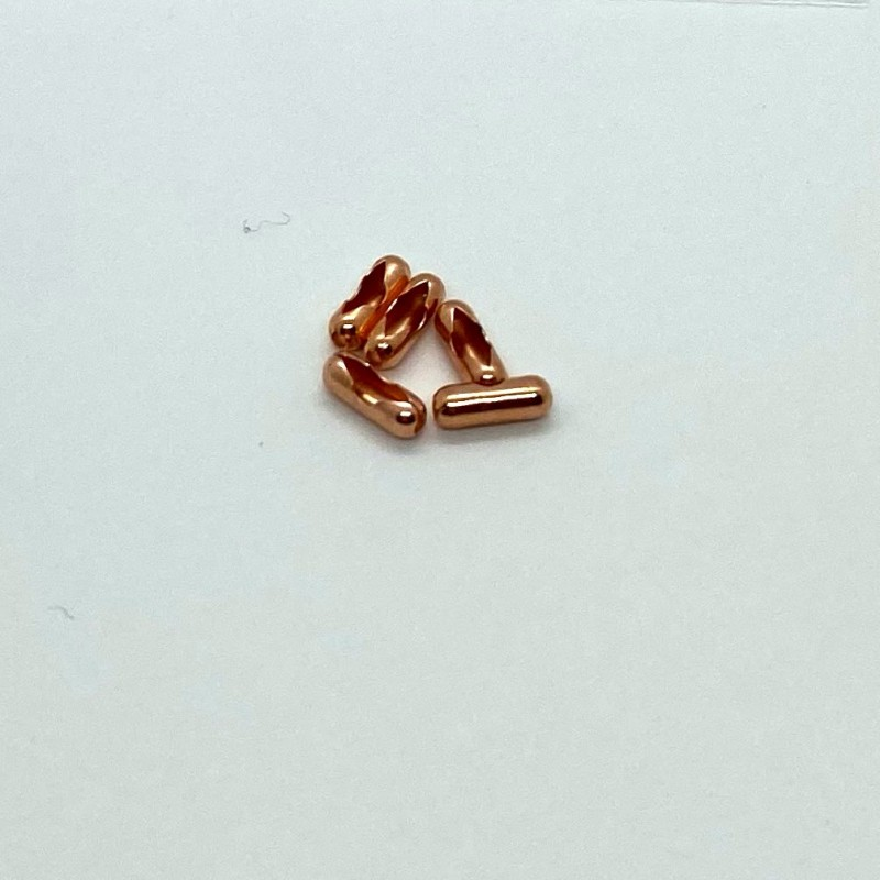 5 Natural Copper Connector Link for 2.4mm Bead Chain