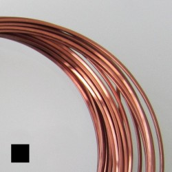 ParaWire 20ga Square Antique Copper Wire with Anti Tarnish Coating - 6.4 Metres Zoom
