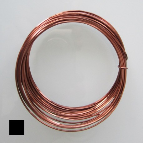 ParaWire 20ga Square Antique Copper Wire with Anti Tarnish Coating - 6.4 Metres