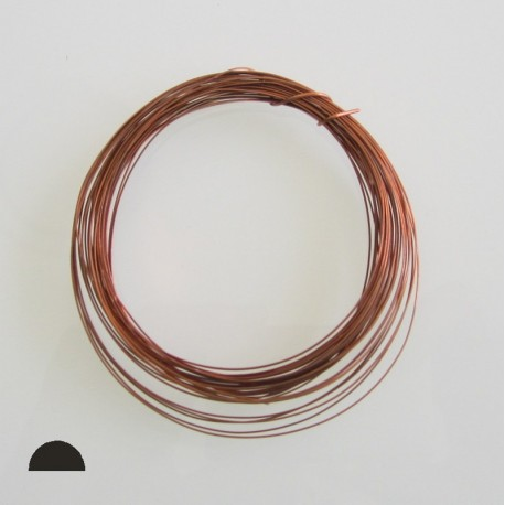 ParaWire 20ga Half Round Natural Copper Wire - 6.4 Metres