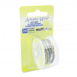 Artistic Wire 20ga Round Multi Coloured Copper Wire Silver Gold and Black - 3.6 Metres Right View