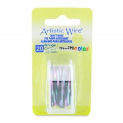 Artistic Wire 20ga Round Multi Coloured Copper Wire Pink Black and Green - 3.6 Metres