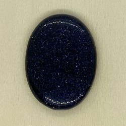 Blue Goldstone Oval Cabochon - 39x28x7mm Sold Individually