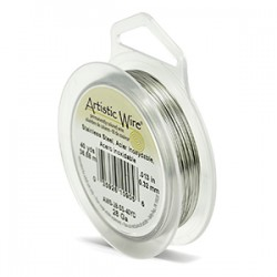 Artistic Wire 28ga Round Stainless Steel Wire - 36 Metres