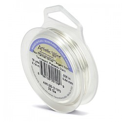 Artistic Wire 22ga Round Silver Plated Copper Wire - 9 Metres