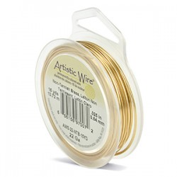 Artistic Wire 22ga Round Brass with Anti Tarnish Coating...