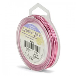 Artistic Wire 18ga Round Rose Coloured Silver Plated Copper Wire - 6 Metres