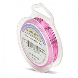 Artistic Wire 26ga Round Rose Coloured Silver Plated Copper Wire - 27 Metres