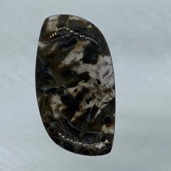 Turkish Agate Cabochon - 36x20x5mm Sold Individually - Glass background