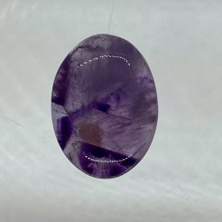 Tripache Amethyst Cabochon - 28x21X7mm Sold Individually - Glass background