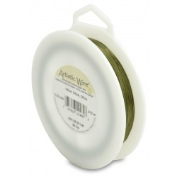Artistic Wire 28ga Round Olive Coloured Copper Wire - 150...