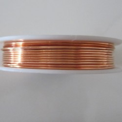 26 Gauge Round Natural Copper Wire - 100 Metres