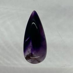 Tripache Amethyst Teardrop Cabochon - 31x13x7mm Sold Individually - Glass Background