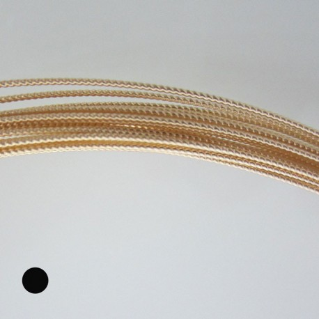18 gauge Twisted Round 14k Gold Filled Wire - 1 Metre