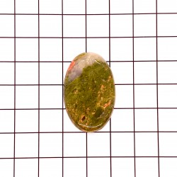 Unakite Oval Cabochon - 33x21x5mm Sold Individually