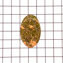 Unakite Oval Cabochon - 39x24x5mm Sold Individually