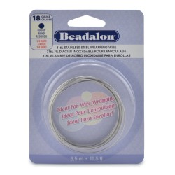 18 Gauge Stainless Steel 3/4 Hard Round Wire - 3.5 Metres