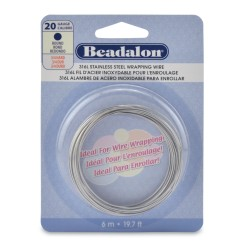20 Gauge Stainless Steel 3/4 Hard Round Wire - 6 Metres
