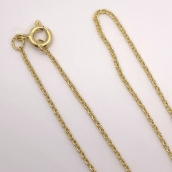 Finished Oval Cable 1.1mm 14K Gold Filled Necklace - 50cm Zoom