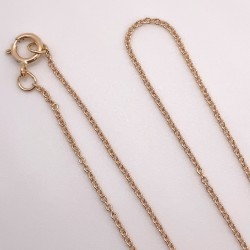Finished Oval Cable 1.1mm 14K Rose Gold Filled Necklace - 50cm Zoom