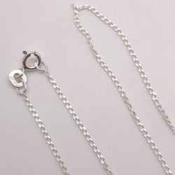 Finished 1.4mm Curb Sterling Silver Filled Necklace - 50cm Zoom