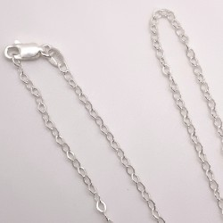 Finished 2.2mm Flat Cable Sterling Silver Filled Necklace - 50cm Zoom